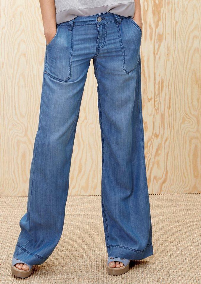 s.Oliver RED LABEL Smart Wide: Sommerliche Jeans in blue denim non stret