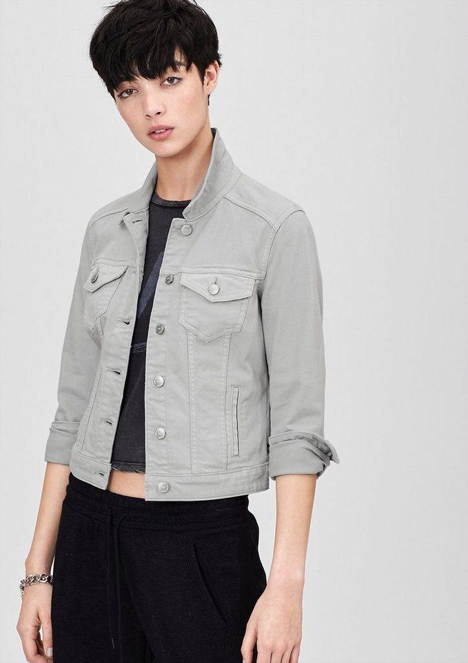 s.Oliver Denim Kurze Jacke aus Colored Denim in grey denim/dark ston
