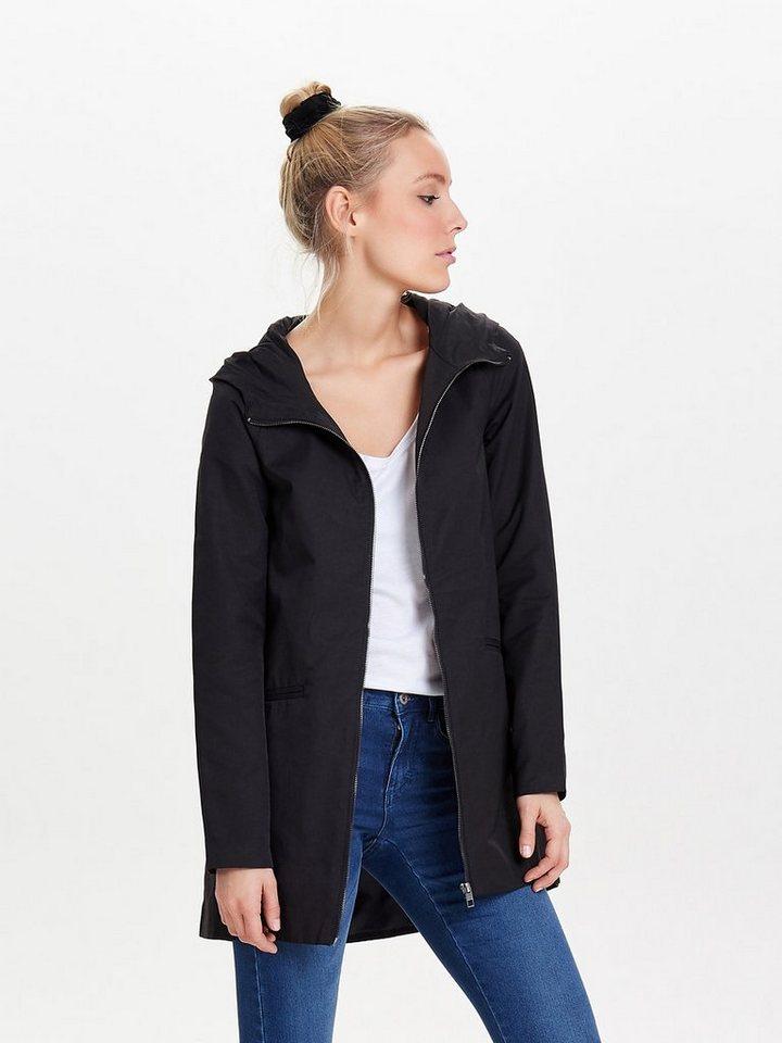 Only Einfarbiger Mantel in Black