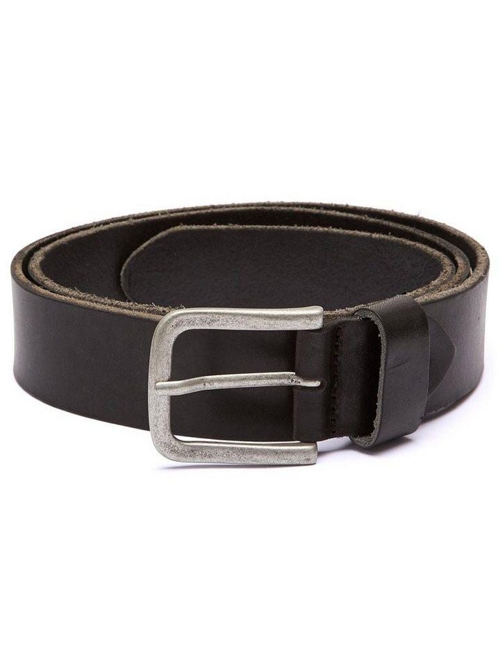 Selected Leder- Gürtel in Black