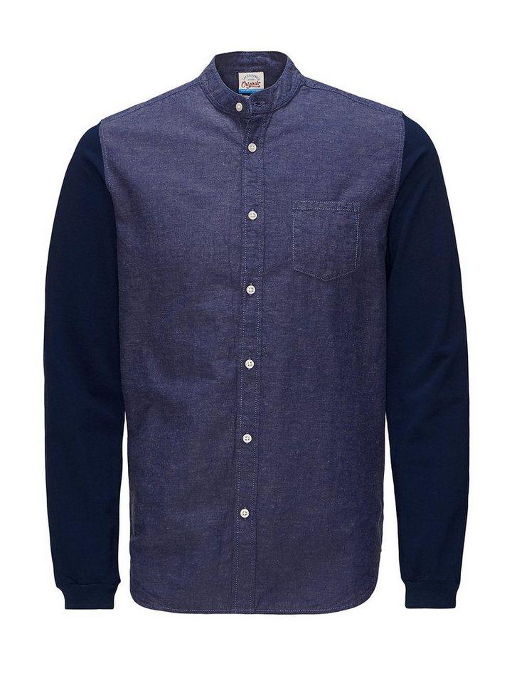 Jack & Jones Long fit Hemd in Navy Blazer