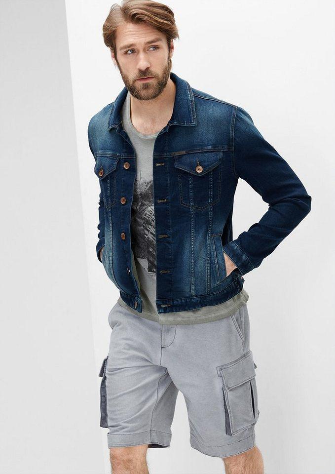 s.Oliver RED LABEL Softe Stretch-Jeansjacke in blue denim stretch