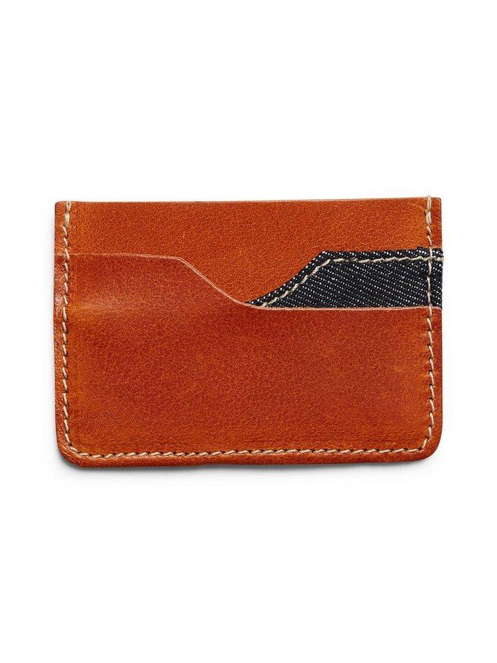 Jack & Jones Leder Kreditkartenhalter in Mocha Bisque