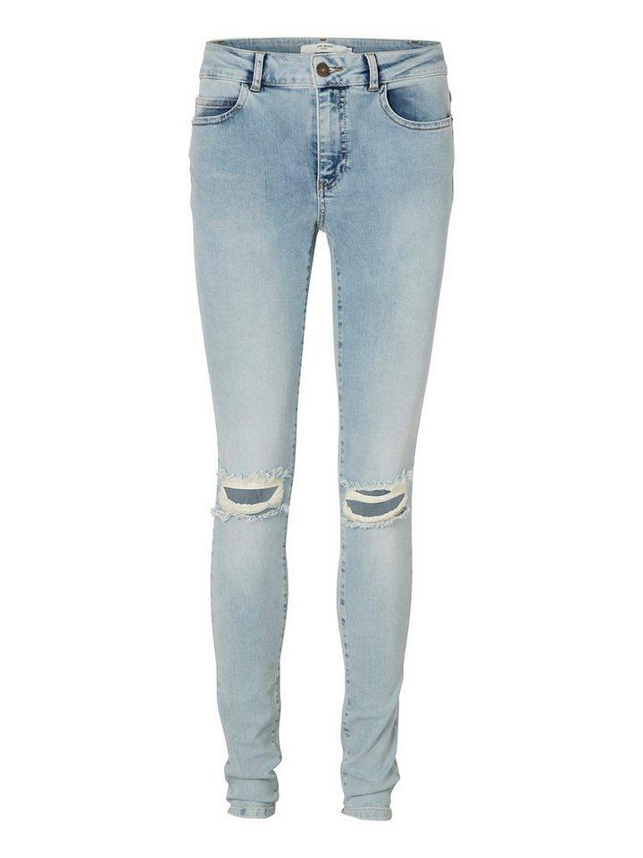 Vero Moda Seven NW Knee-cut Skinny fit jeans in Light Blue Denim