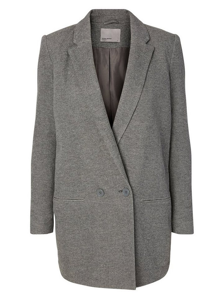 Vero Moda Langer Blazer in Dark Grey Melange