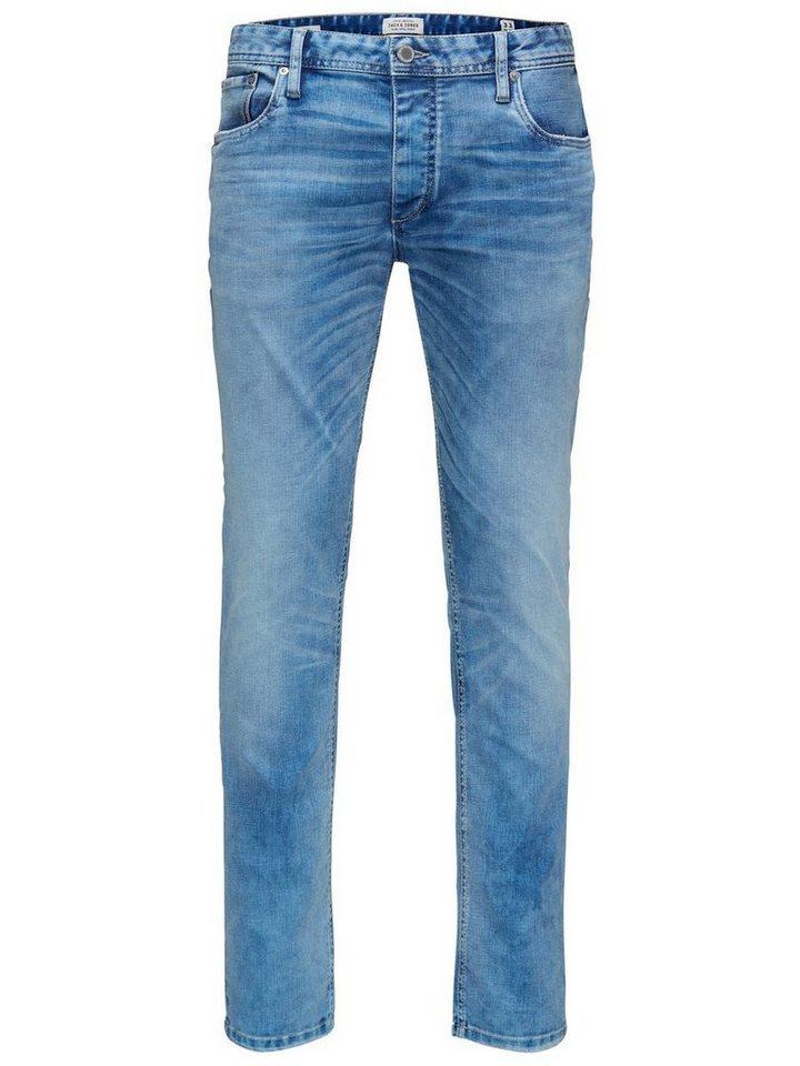 Jack & Jones Tim Original jos 722 Slim Fit Jeans in Blue Denim