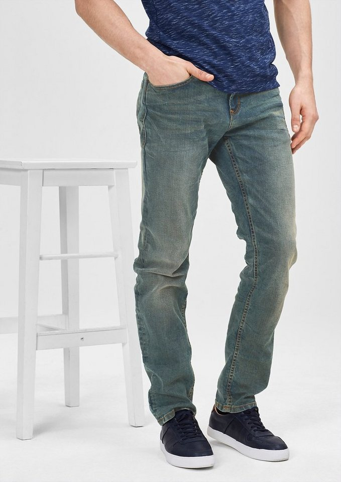 s.Oliver RED LABEL Tubx Straight: Jeans im Vintage-Look in grey denim stretch