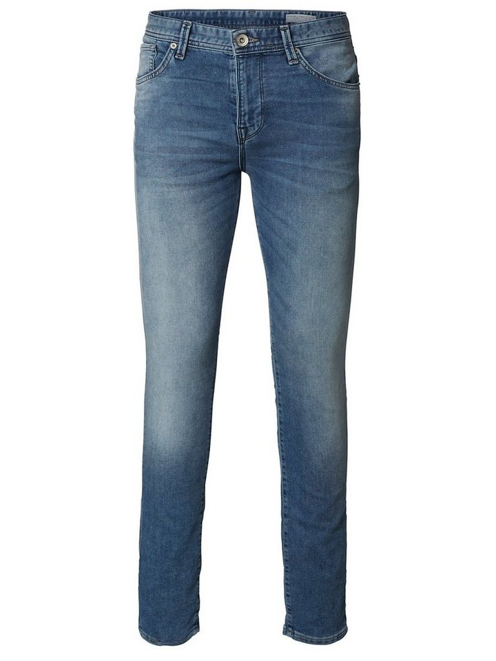 Selected Blaue Regular fit Jeans in Medium Blue Denim