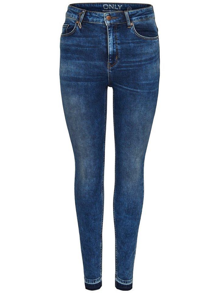 Only Coral High Knöchel- Skinny Fit Jeans in Medium Blue Denim