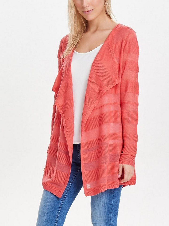 Only Drapierter Strick-Cardigan in Rose Of Sharon