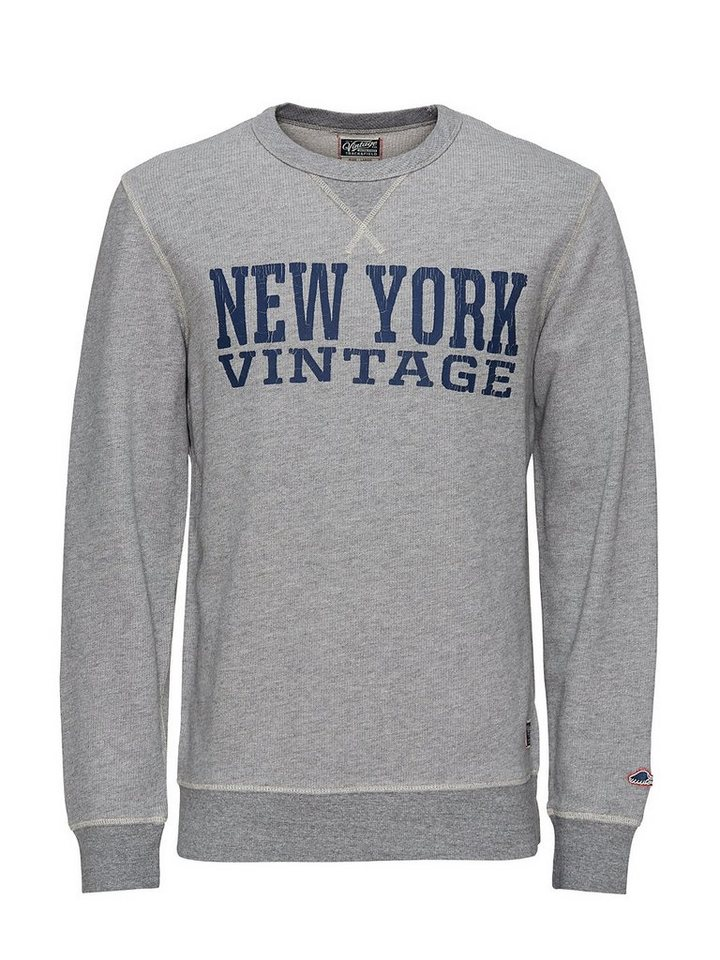 Jack & Jones Craquelé-Print Sweatshirt in Light Grey Melange 1