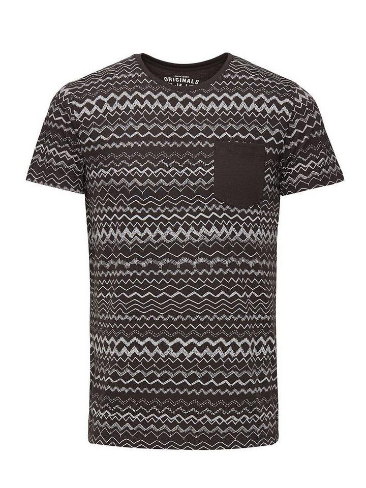 Jack & Jones Komplett bedrucktes T-Shirt in Raven