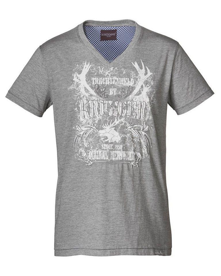 Krüger Buam T-Shirt in Grau-Meliert