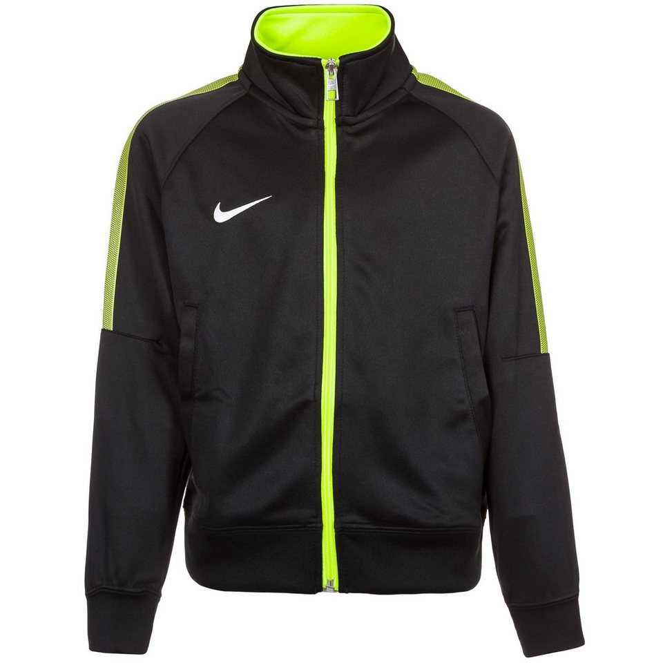 NIKE Team Club Trainingsjacke Kinder in schwarz / lime