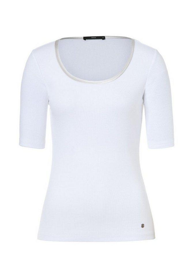 BRAX T-Shirt »CLARA« in WHITE
