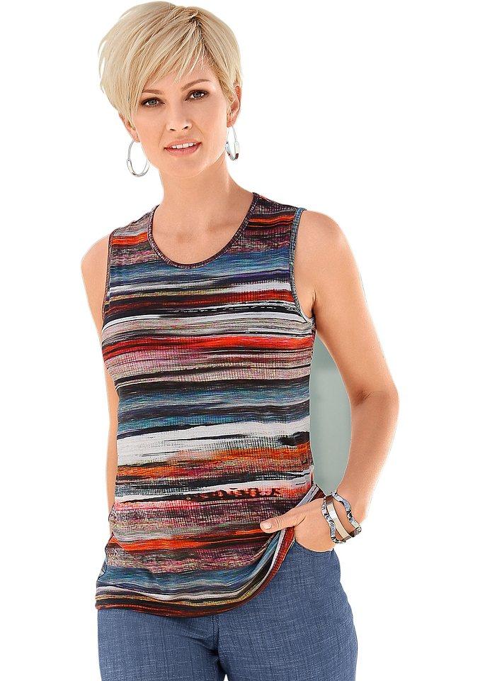 Collection L. Shirttop mit Rundhals-Ausschnitt | Bekleidung > Shirts > Rundhalsshirts | Bunt | Collection L.