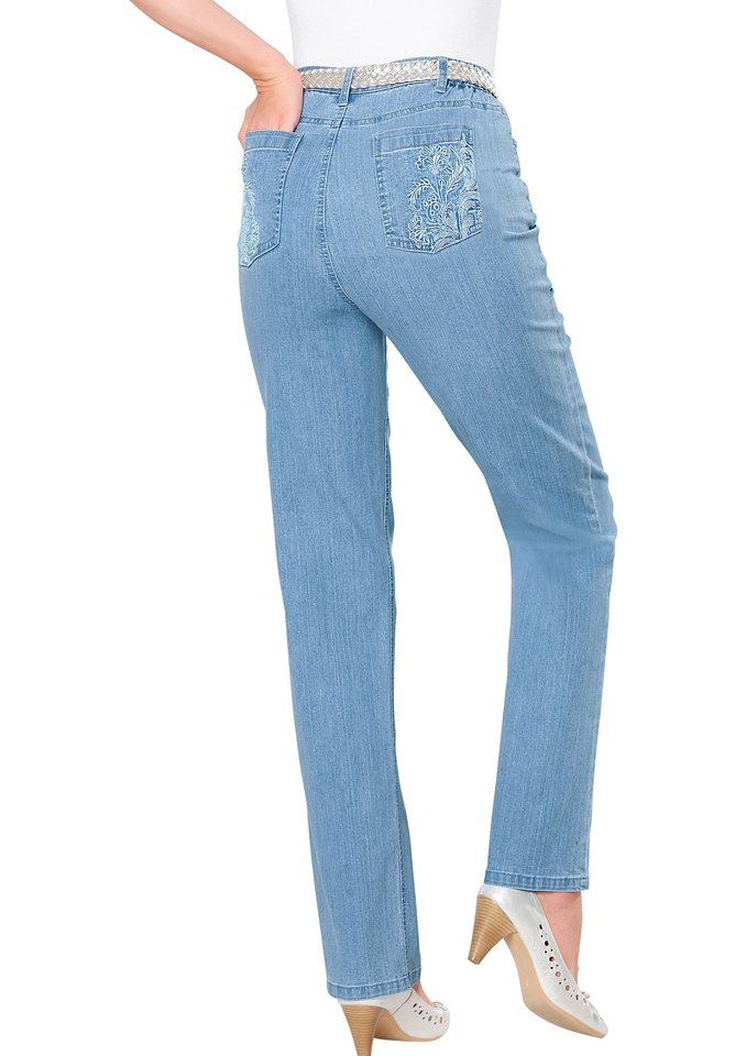 Classic Basics Jeans in Stretch-Qualität in blue-bleached
