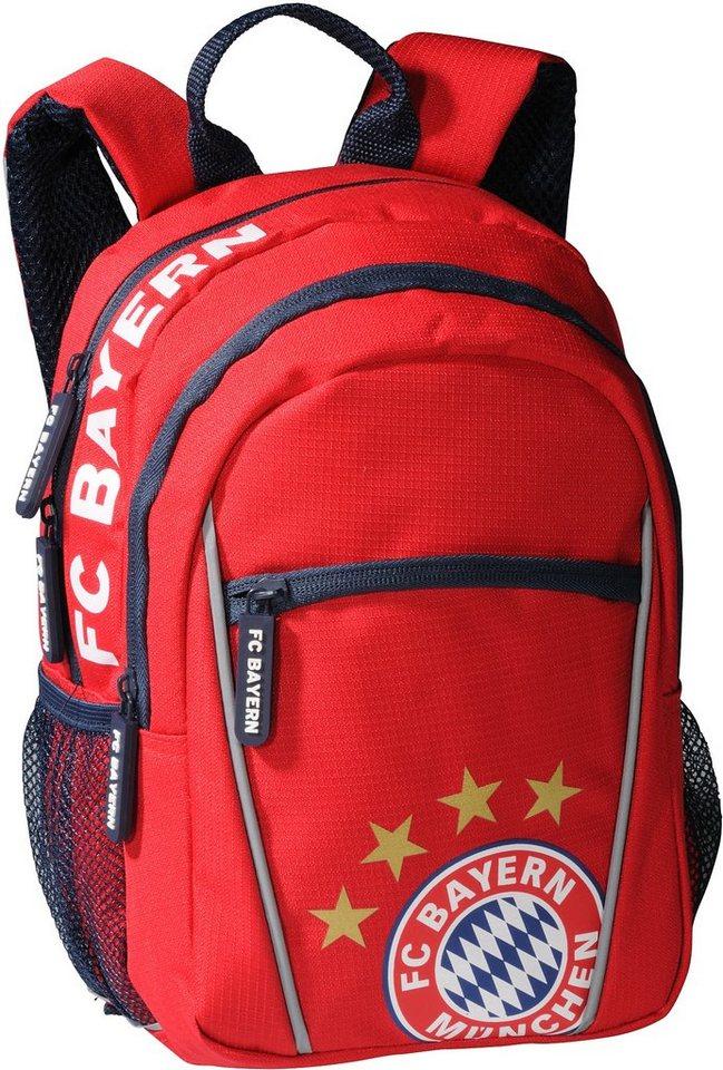 FC Bayern München Kindergartenrucksack rot, »FC Bayern« in rot