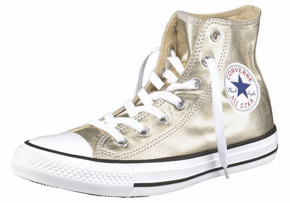 Converse »Chuck Taylor All Star Seasonal Metallic Hi« Sneaker in goldfarben