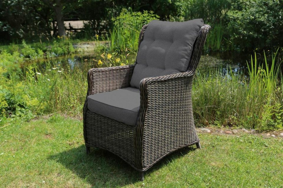 destiny gartenstuhl casa polyrattan grau inkl. Black Bedroom Furniture Sets. Home Design Ideas