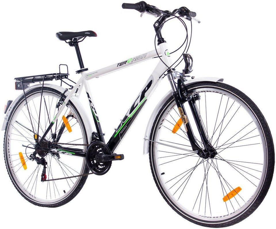 KCP Citybike (Herren) »TERRION Gent, 60,96 cm (24 Zoll), 66,04 cm (26 Zoll) und 71,12 cm (28 Zoll)« in weiß