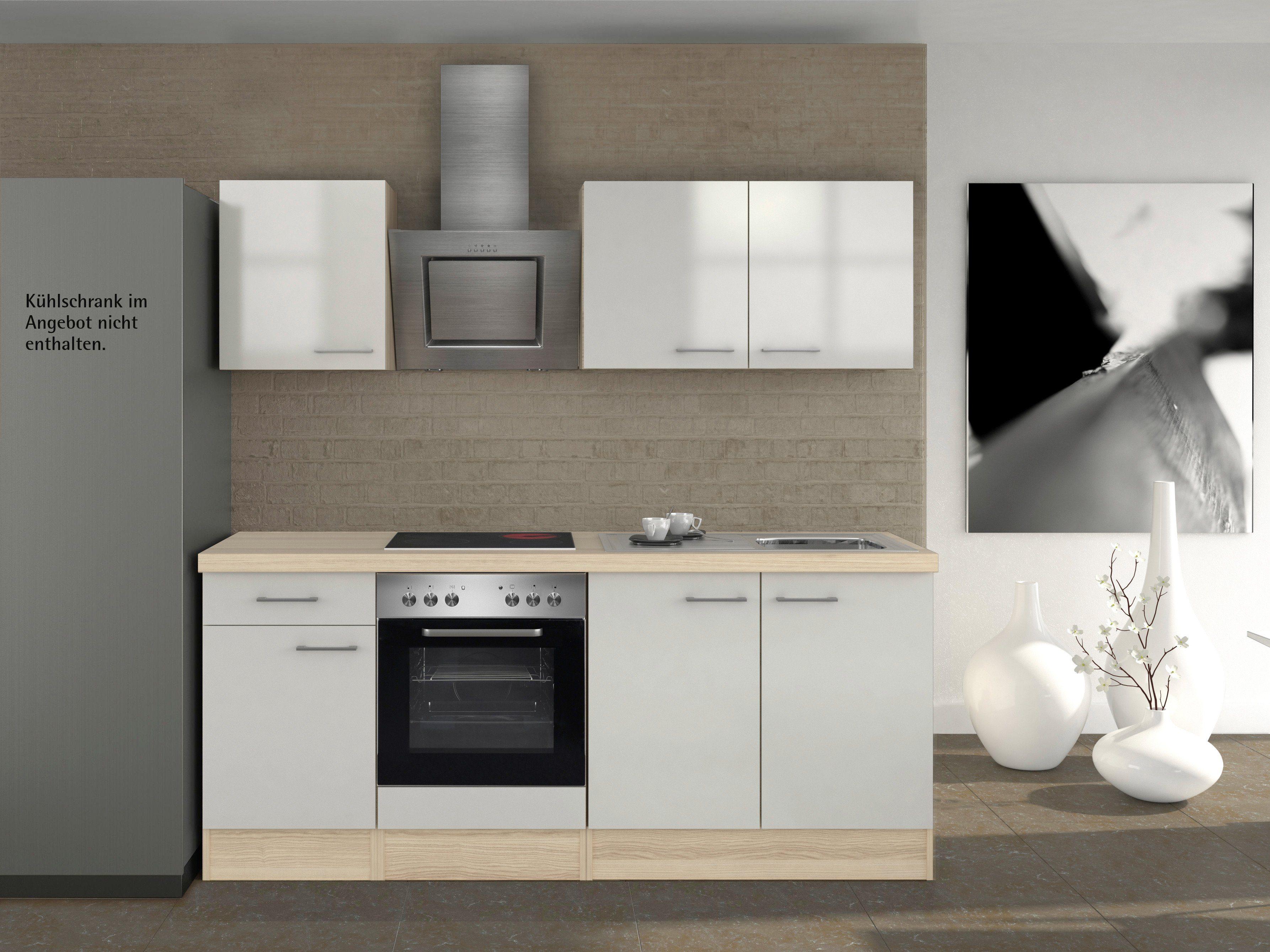 Küchenzeile mit E-Geräten »Oregon«, Breite 210 cm