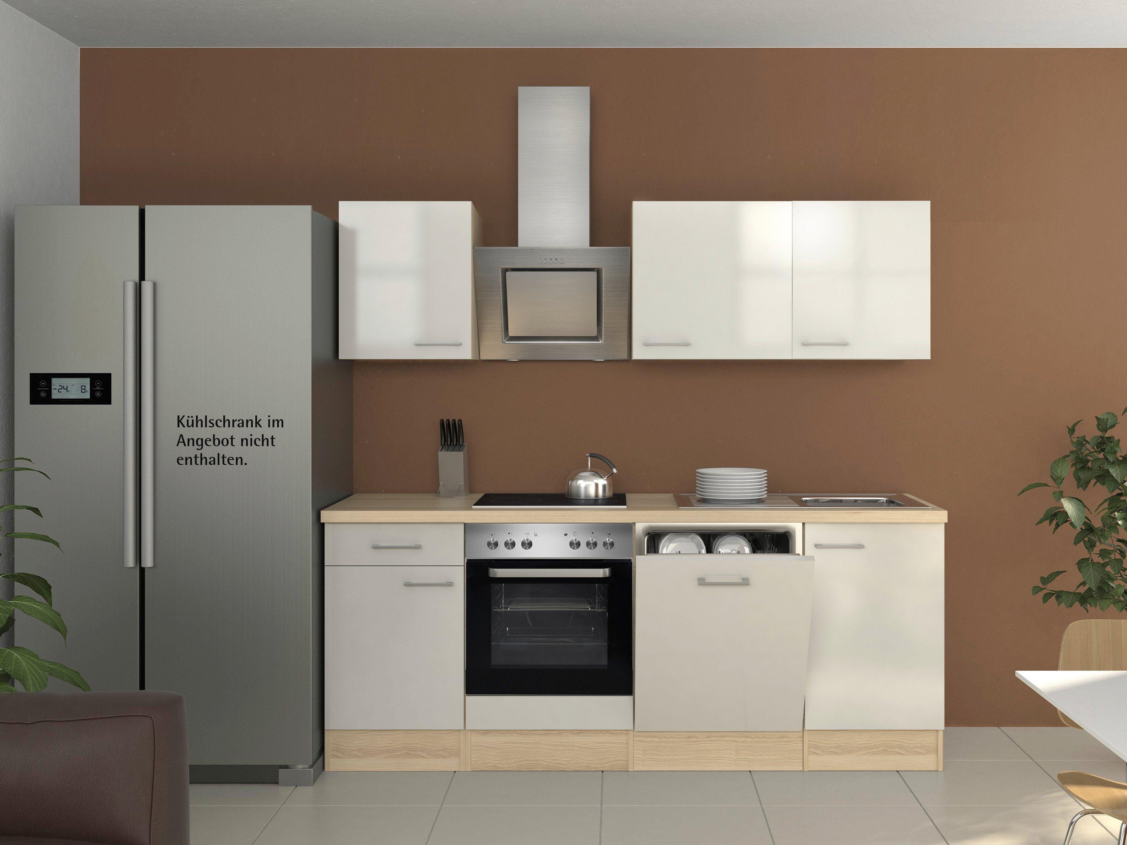 Küchenzeile mit E-Geräten »Oregon, Breite 220 cm, Set 2«