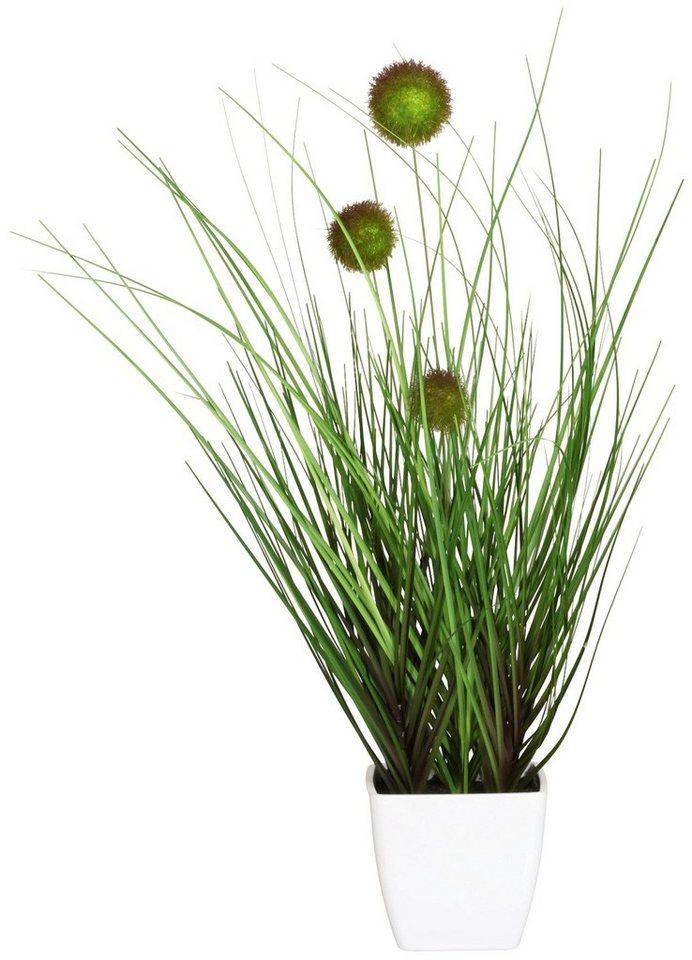 Kunstpflanze »Klettengras« in grün