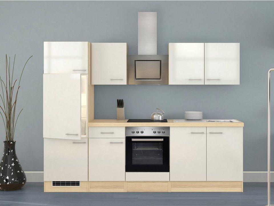 Küchenzeile mit E-Geräten »Oregon«, Breite 270 cm, Set 3 in natur