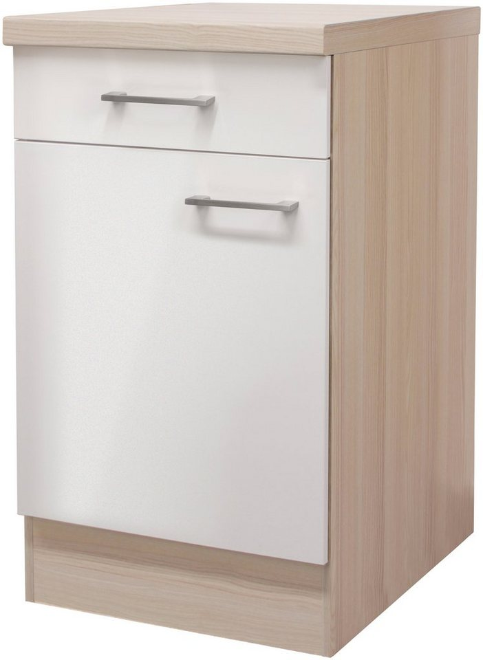 Küchenunterschrank »Oregon«, Breite 50 cm in perlmuttfarben/akaziefarben