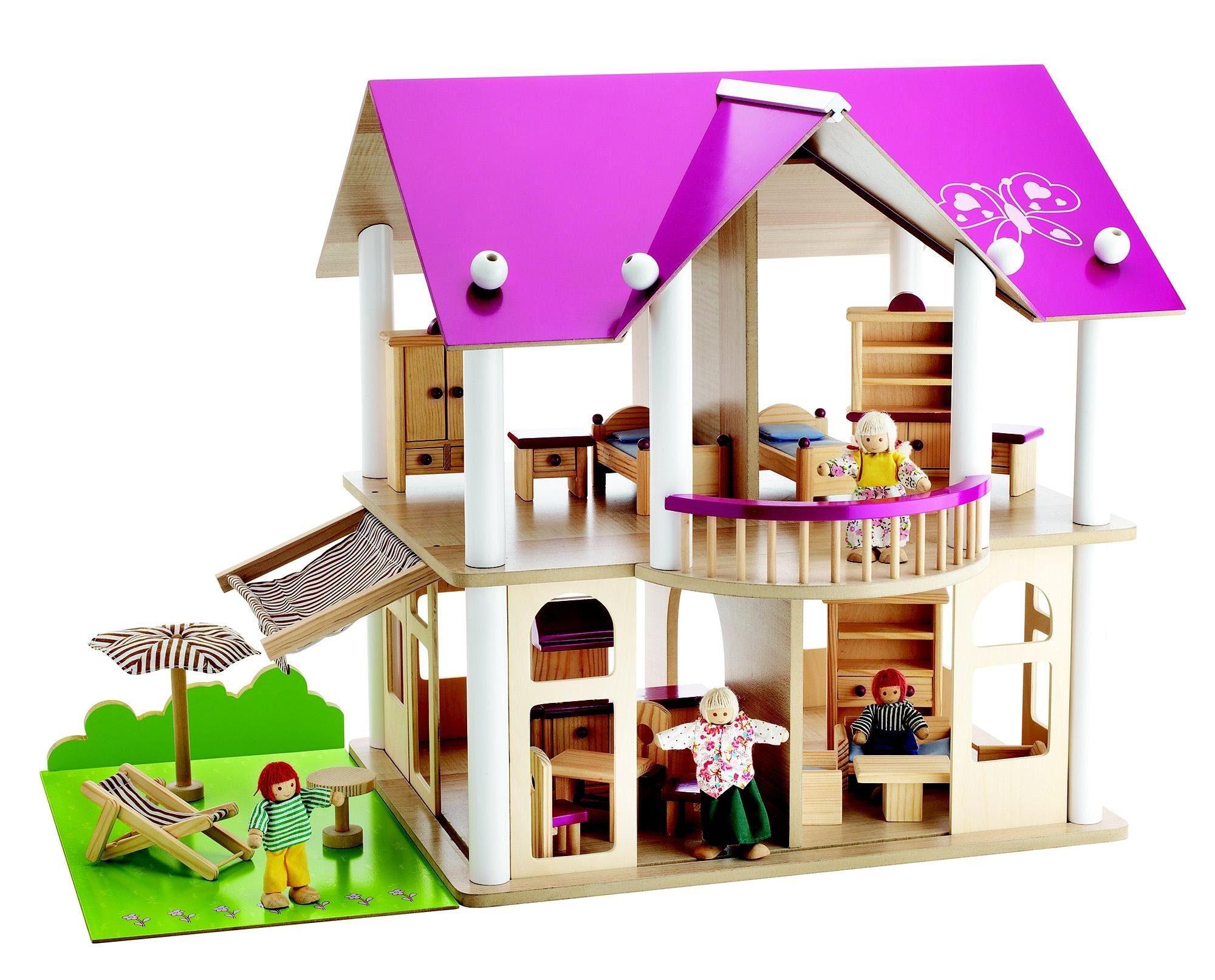 Puppenhaus, »Villa, 75 Teile«, Eichhorn