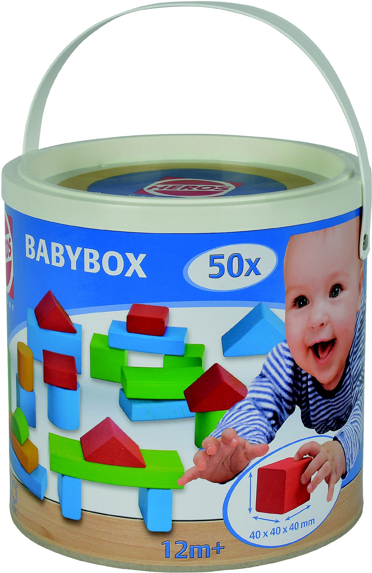 Heros Holz Bausteine, »Baby-Box 50 Teile«