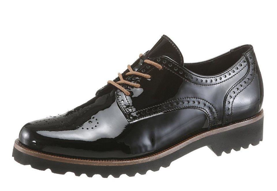 Gabor Schnürschuh im Dandy-Style in schwarz