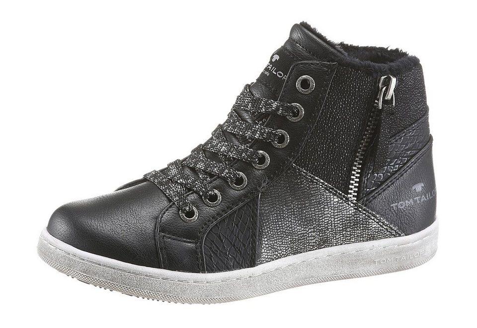 Tom Tailor Sneaker Gepolsterter Schaftrand in schwarz