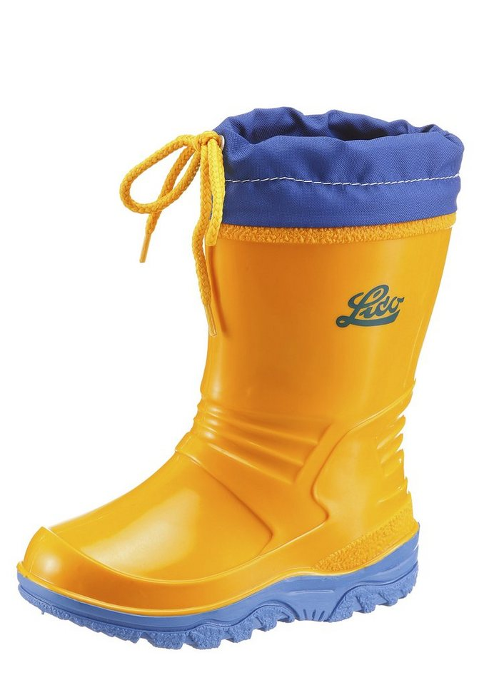 Lico »Punto« Gummistiefel rutschhemmend in gelb-blau