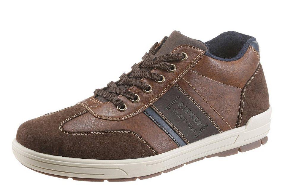 Rieker Sneaker mit gepolstertem Schaftrand in braun-dunkelbraun