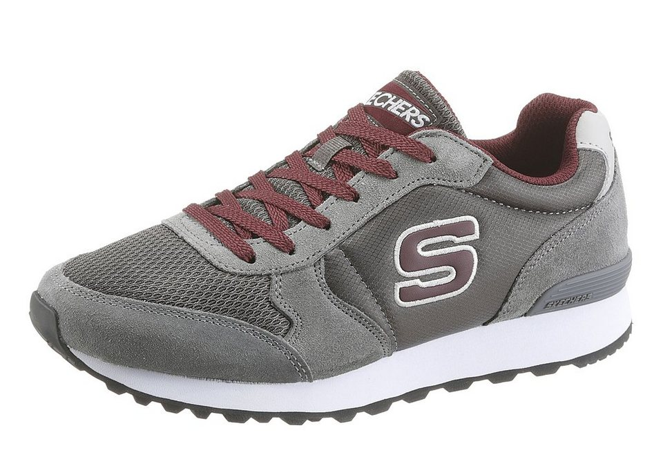 Skechers Sneaker mit Memory Foam in grau-bordeaux