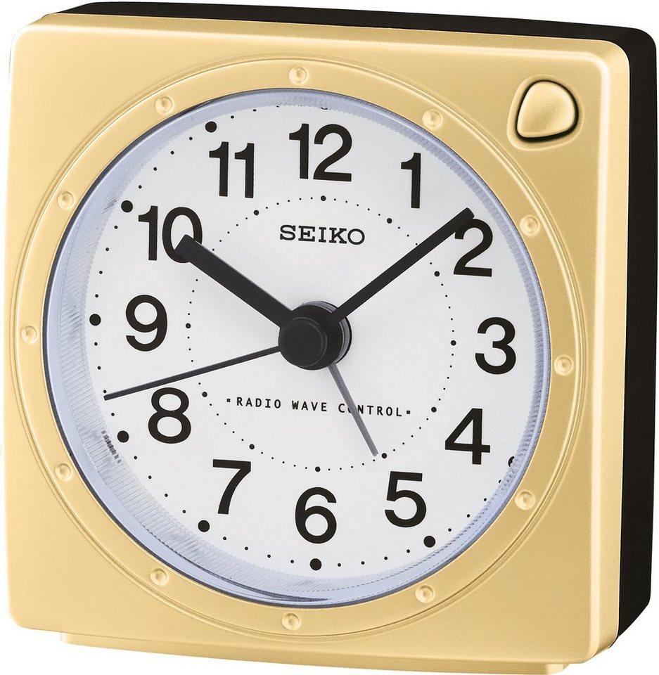 Seiko Funkwecker, »QHR201G« in goldfarben