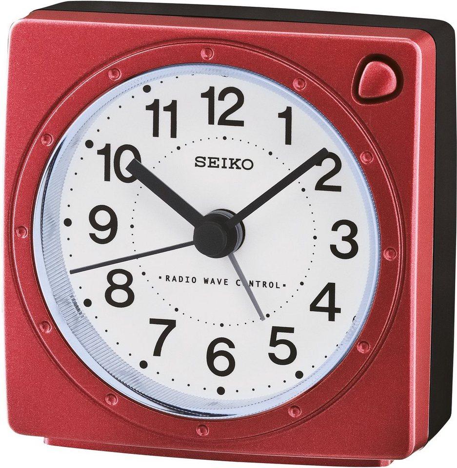 Seiko Funkwecker, »QHR201R« in rot