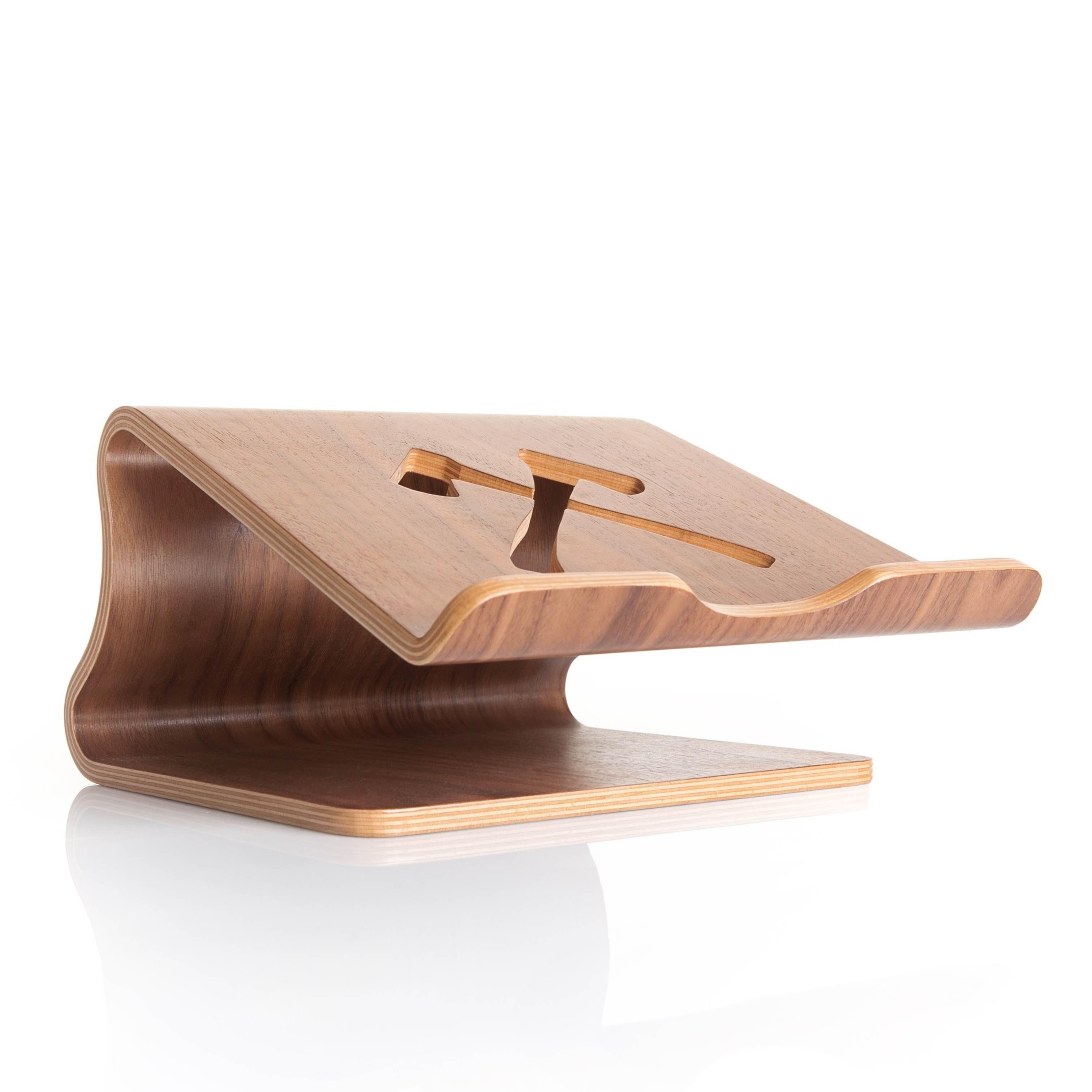 Woodcessories EcoLift - Ergonomischer Laptopständer (11-19 Zoll) aus Echtholz
