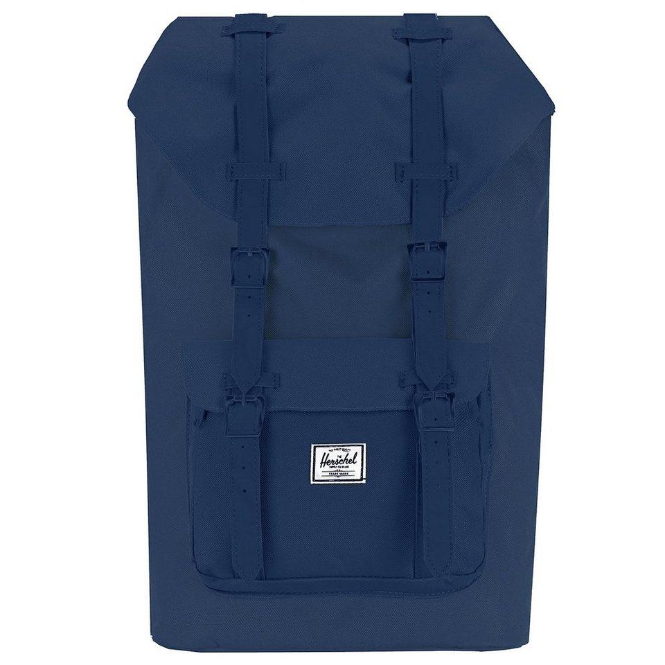Herschel Little America Mid Volume Backpack Rucksack 38 cm Laptopfach in navy-navy-pu