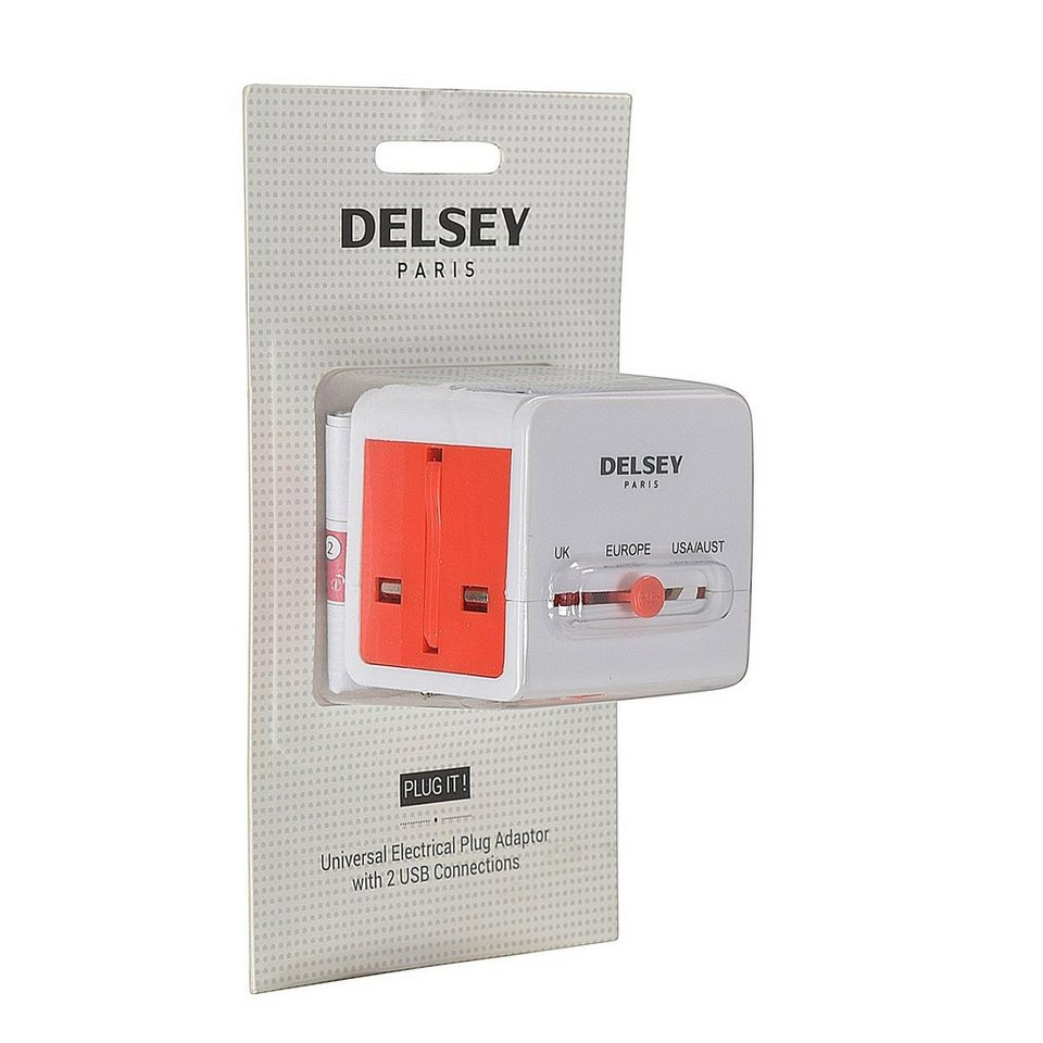 Delsey Delsey Accessoires Luxus-Universaladapter in weiss