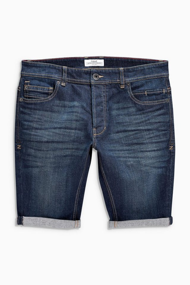 Next Regular-Fit-Shorts aus Denim in Mittelblau