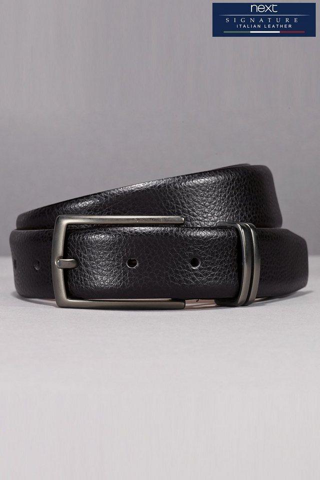 Next Gürtel aus italienischem Leder in Schwarz