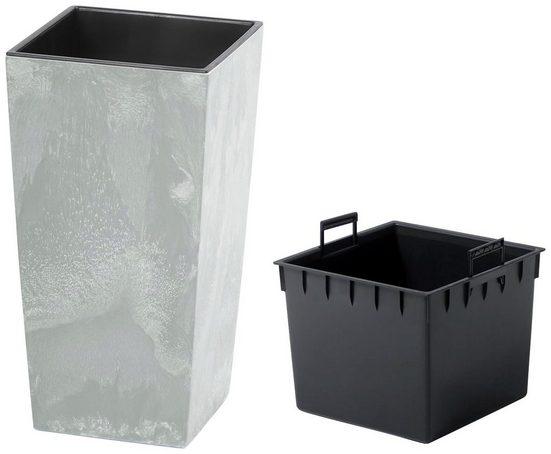 Prosperplast Pflanzkübel »Urbi Square Beton«, BxTxH: 26,5x26,5x50 cm