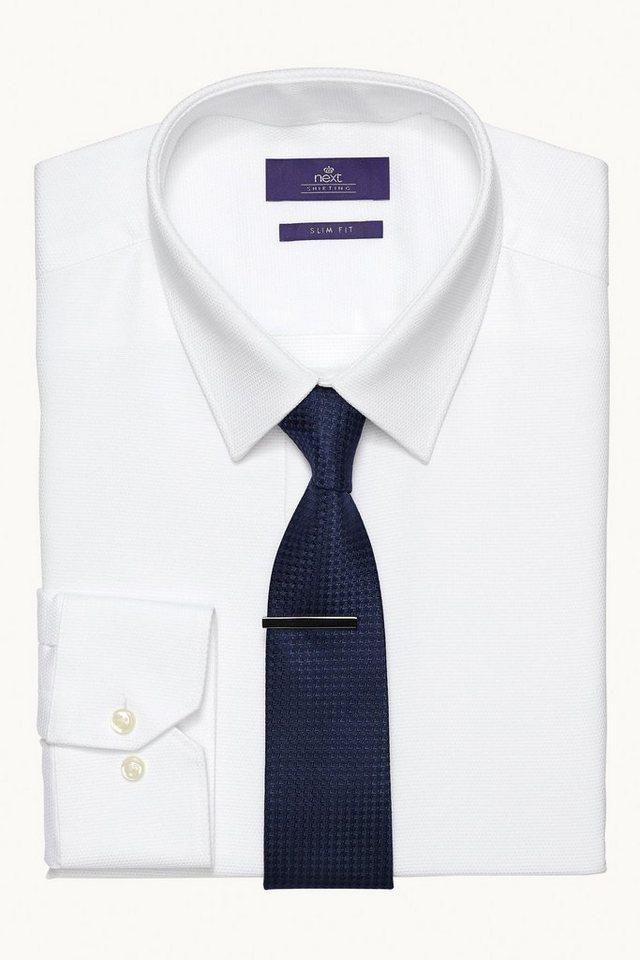 Next Hemd, Krawatte und Krawattennadel im Set 3 teilig in Blau