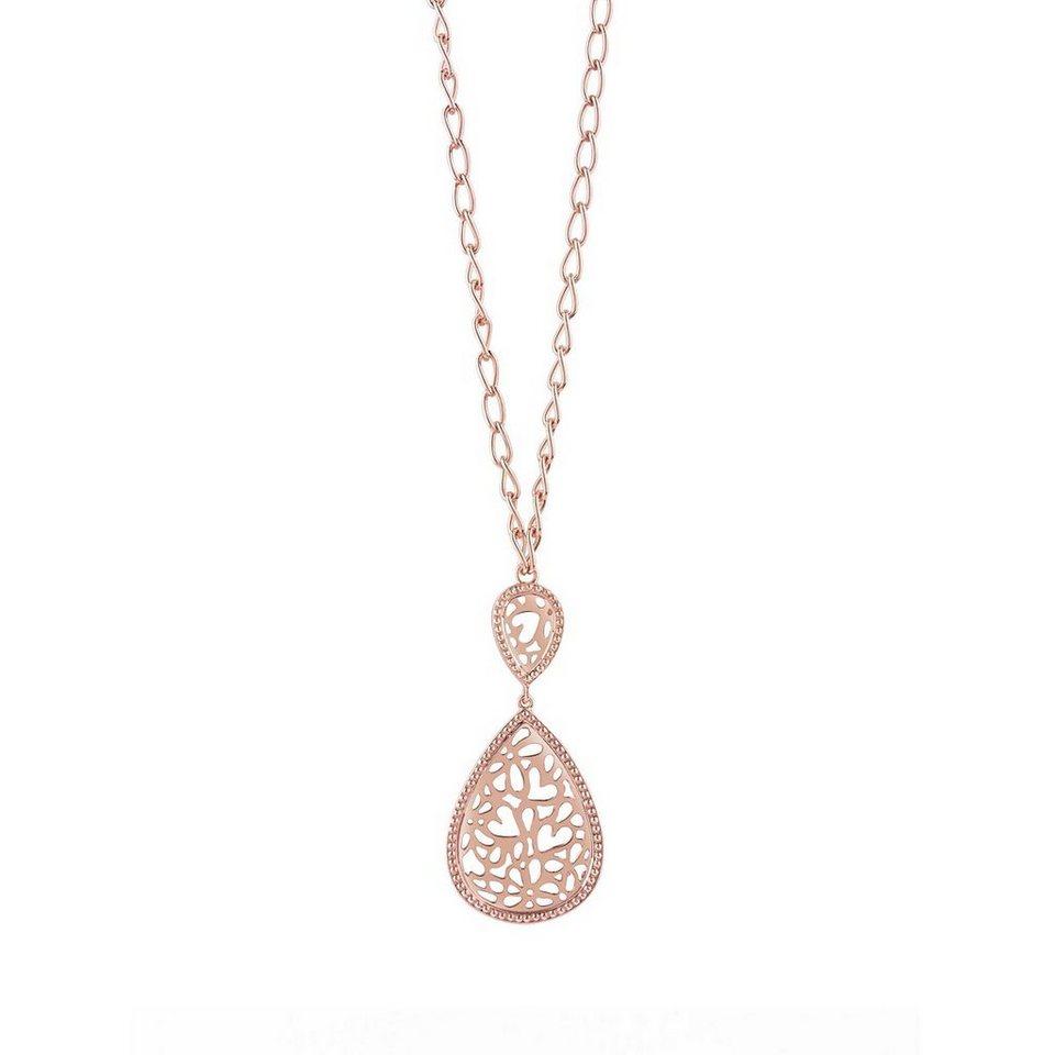 Guess Lange Halskette Riviera rosévergoldet in Rose Goldenfarbe