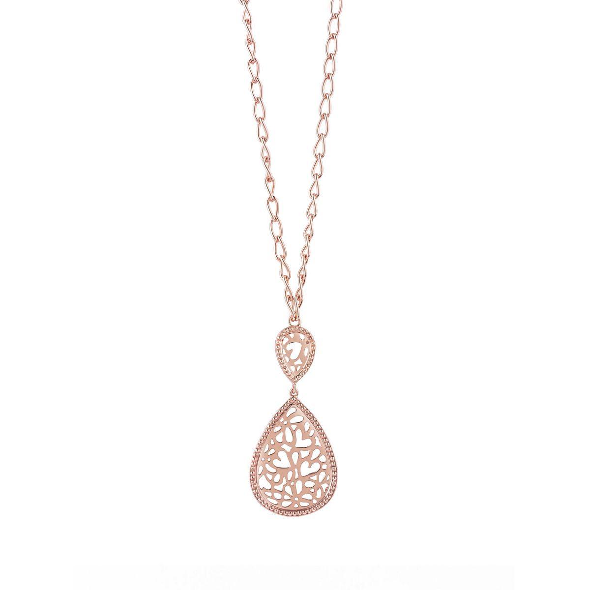 Guess Lange Halskette Riviera rosévergoldet