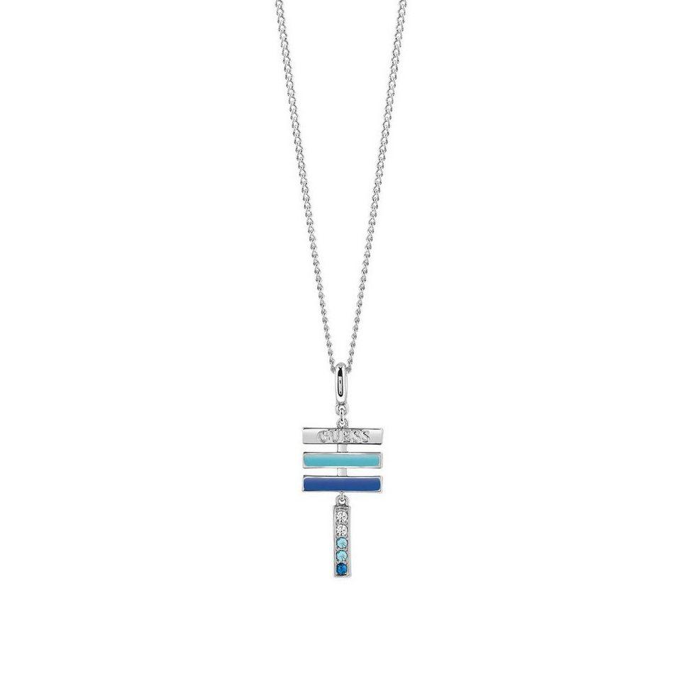 Guess Lange Halskette Rainbow rhodiniert in Argent