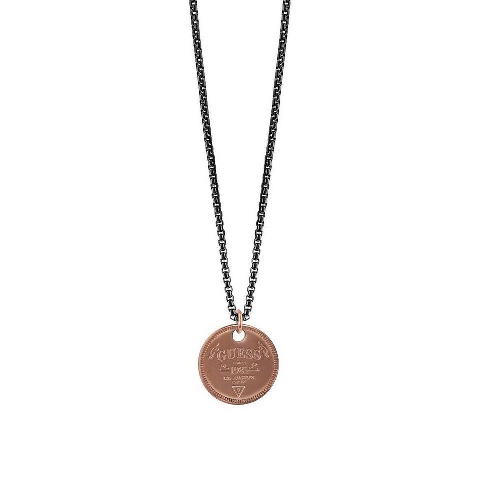 Guess Halskette Shapes Moneta braun plattiert in Braun
